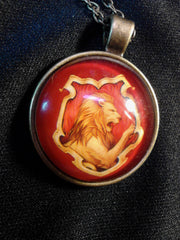 Gryffindor House Cabochon Necklace