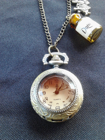 Alice in Wonderland Watch Necklace