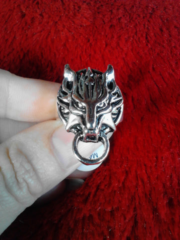 Cloudy Wolf Ring