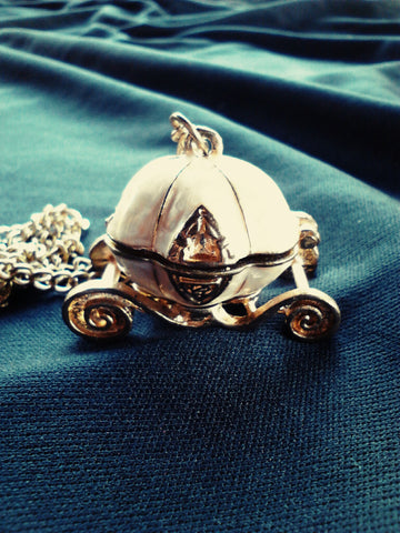 Cinderella's Pumpkin Carriage Locket