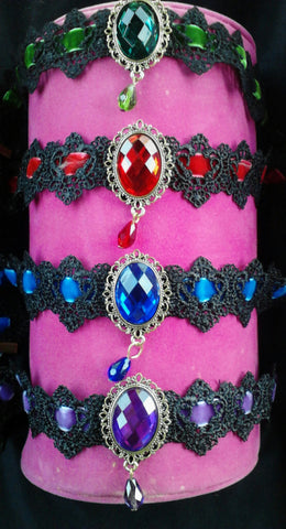 Lace & Velvet Jeweled Chokers