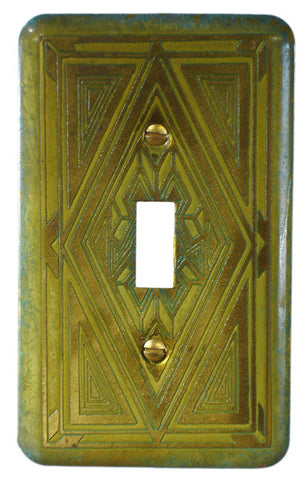 Etched Single Brass Verde  Baraka