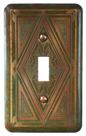 Etched  Single Copper Verde Baraka