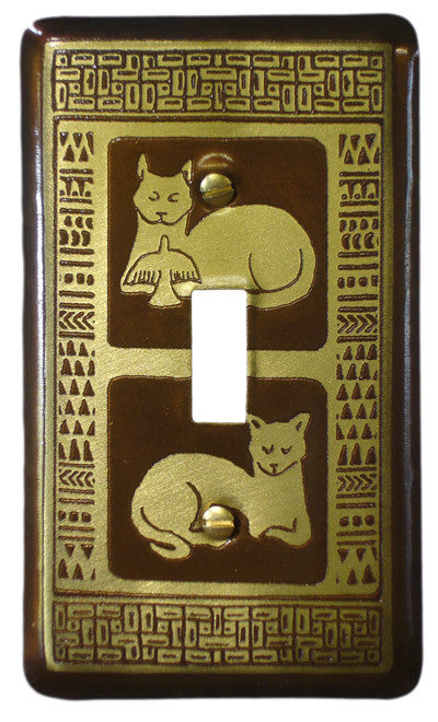 Etched Single Brass Peace Cats