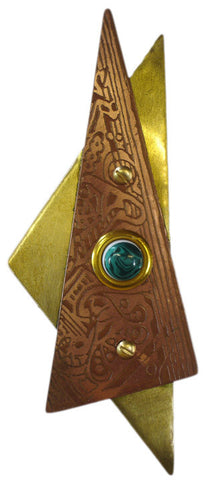 Star Doorbell Copper/Reggae & Brass