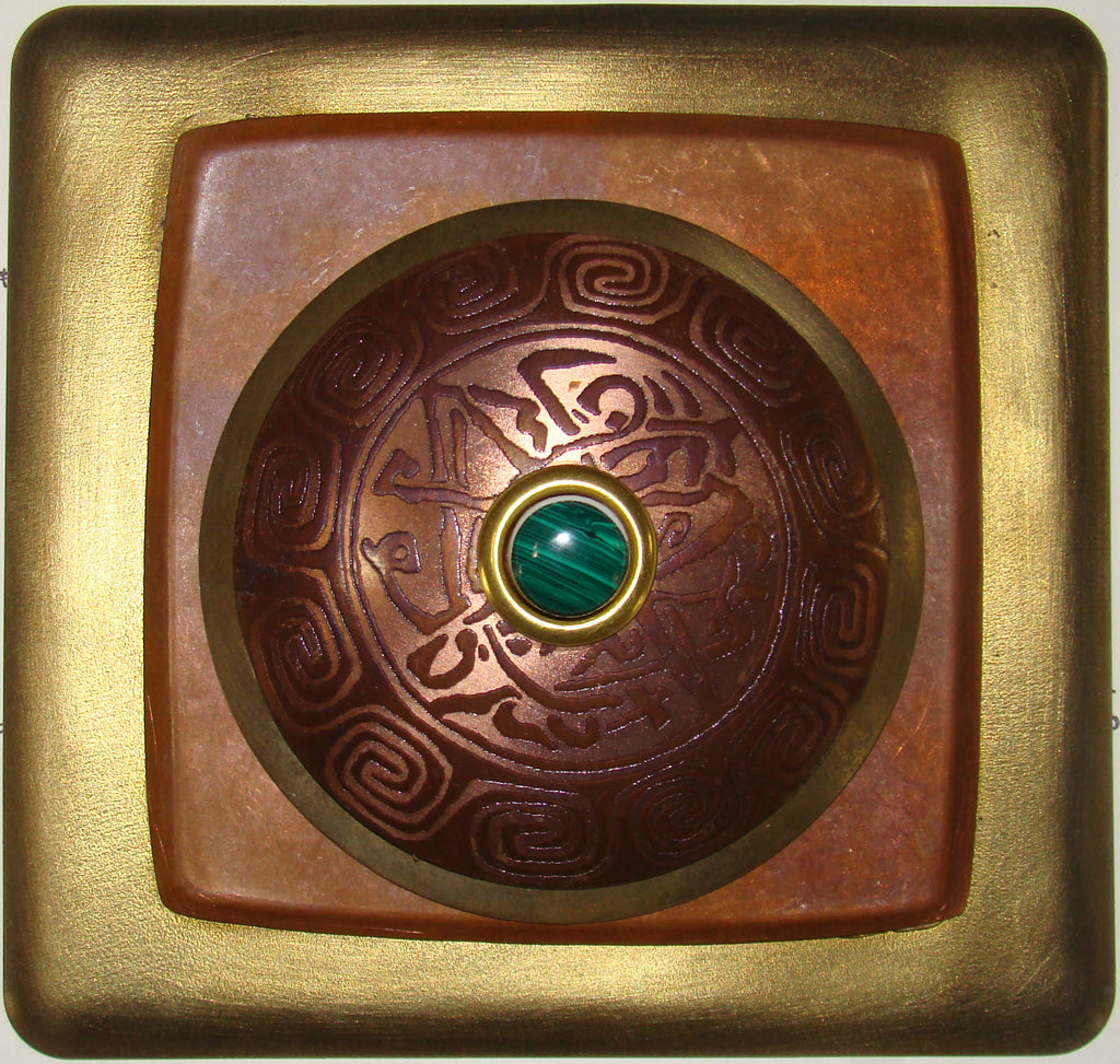 Haiku Doorbell Brass W/ Copper Order & Chaos