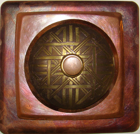 Haiku Doorbell Copper W/ Brass Crystal