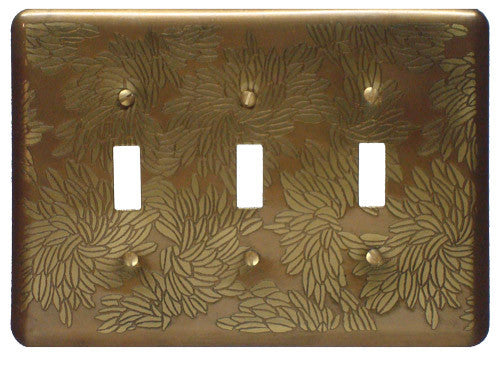 Etched Triple  Brass Flora