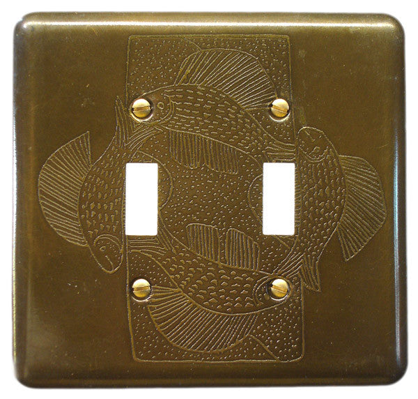 Etched Dbl. Brass Fish