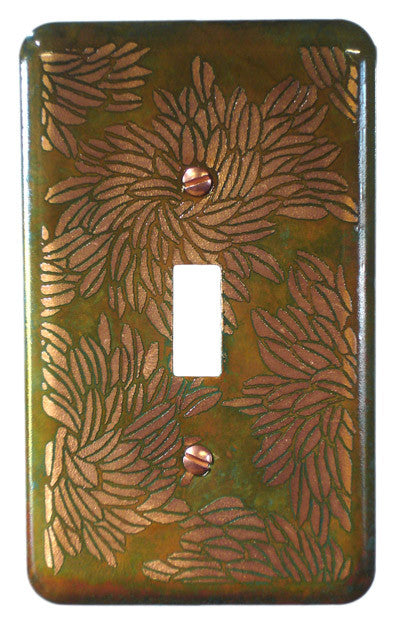 Etched Single Copper  Verde Flora