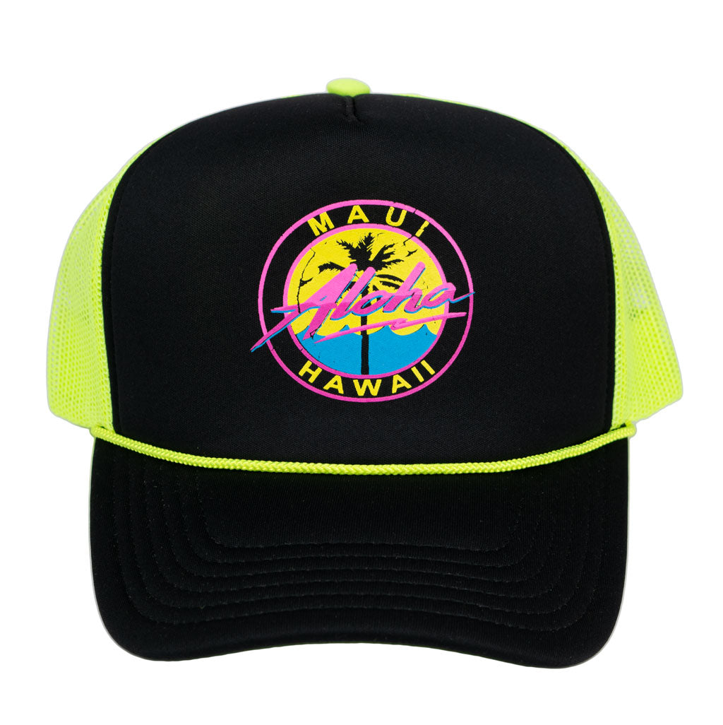 Aloha 80's Foam Trucker Hat - Red Dirt Maui