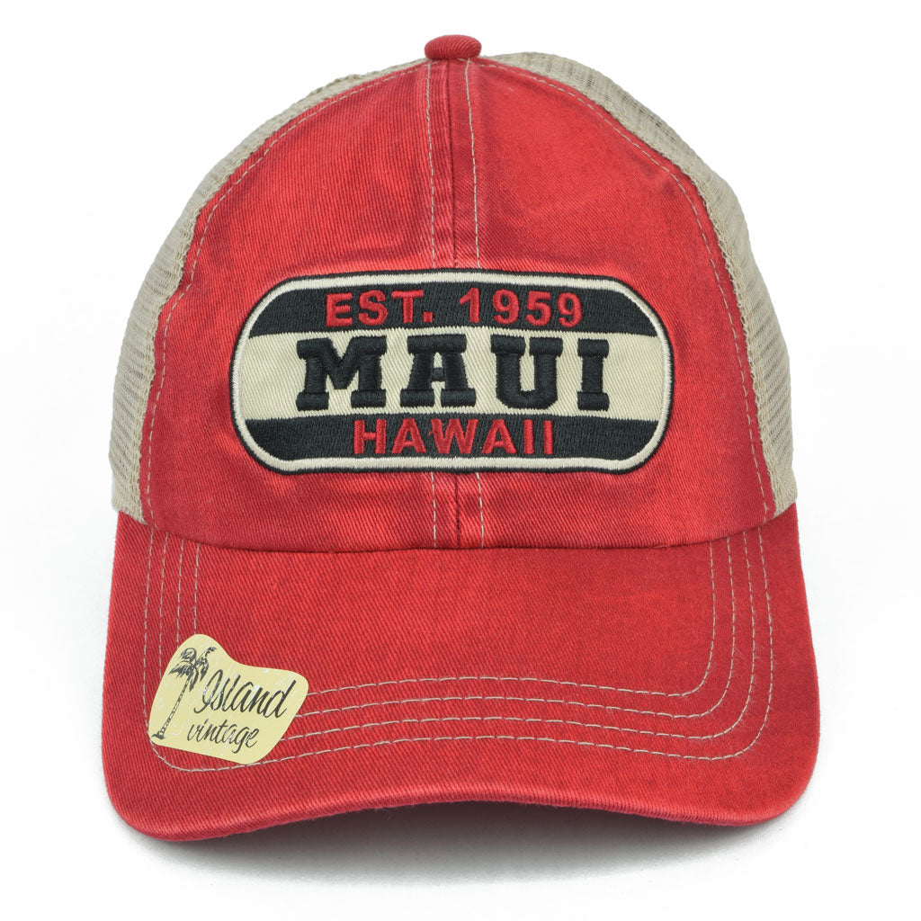 Maui Hawaii Patch Vintage Hat
