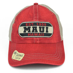 Maui Hawaii Patch Vintage Hat - Red Dirt Maui