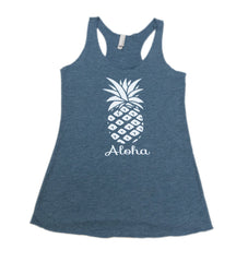 Women's Pineapple Tank Top - Red Dirt Maui