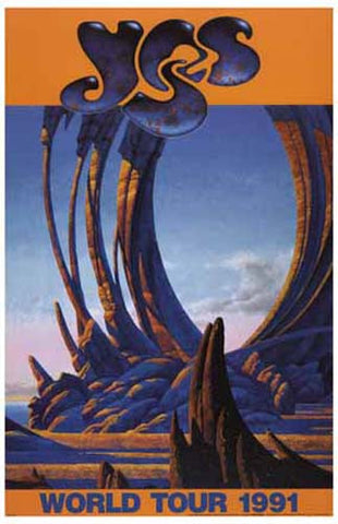 YES ROGER DEAN ART World Tour 1991 11x17 POSTER