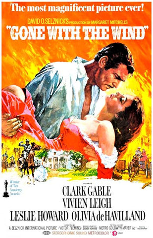 Gone with the Wind Rhett & Scarlet Tara 11x17 Poster