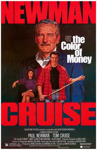 Color of Money Paul Newman Tom Cruise 11x17 Poster