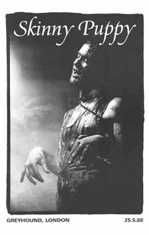 SKINNY PUPPY Nivek Ogre LONDON MAY 25 1988 11x17 POSTER