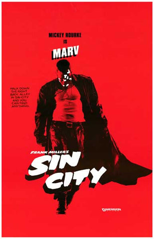 Sin City Mickey Rourke Movie Poster
