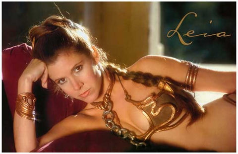 Star Wars Princess Leia Carrie Fisher Poster