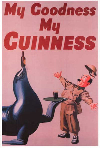 Guinness Beer My Goodness My Guinness Seal 12x18 Poster