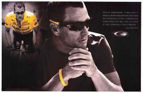 Lance Armstrong Glowing Yellow 11x17 Poster
