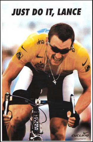 Lance Armstrong Cycling Poster