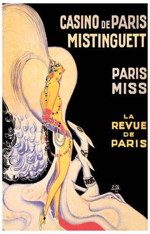 Mistinguett Paris French Ad Poster