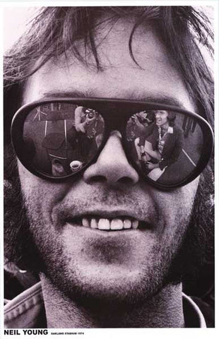 Neil Young Shades Oakland Stadium 1974 11x17 Poster