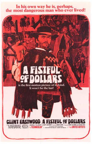 Fistful of Dollars Eastwood Morricone 11x17 Poster