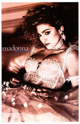 Madonna Like A Virgin Poster