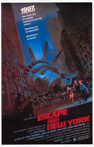 Escape From New York Kurt Russell 11x17 Poster