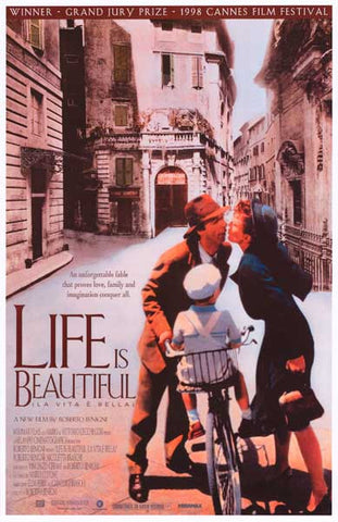 Life Is Beautiful Roberto Benigni Cannes 11x17 Postre