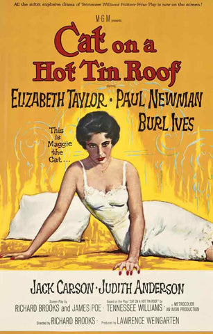 Cat on A Hot Tin Roof Movie Poster 11x17