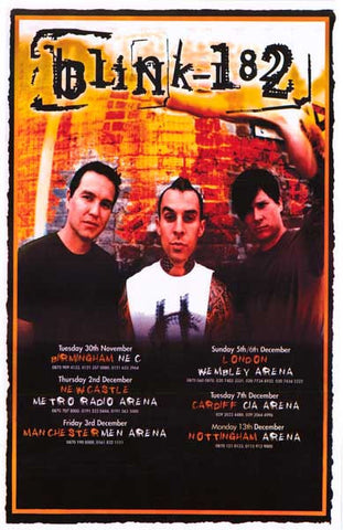Blink-182 Mark Tom Travis 11x17 Poster