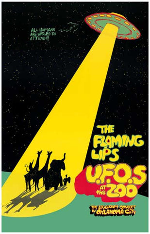 Flaming Lips UFOs at the Zoo Concert 11x17 Poster