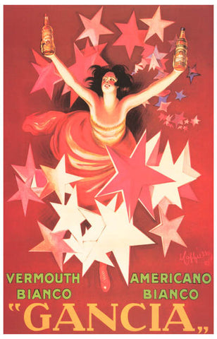 Vermouth Bianco Gancia French Ad Art 11x17 Poster