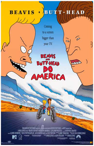 Beavis and Butt-Head Do America Movie Poster
