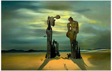Dali Reminiscence of Millet's Angelus 11x17 Poster