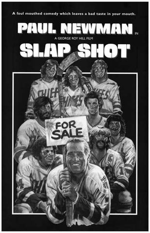 Slap Shot Paul Newman Movie Poster