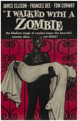 I Walked With a Zombie Film Black Voodoo 11x17 Poster