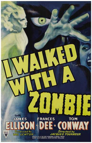 I Walked With a Zombie Film Mojo Hand 11x17 Poster
