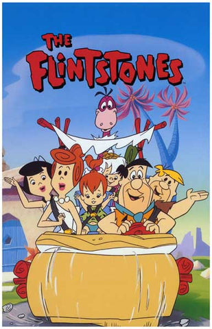 The Flintstones Cartoon Poster
