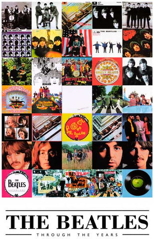Beatles Through the Years Album Collage 11x17 Poster