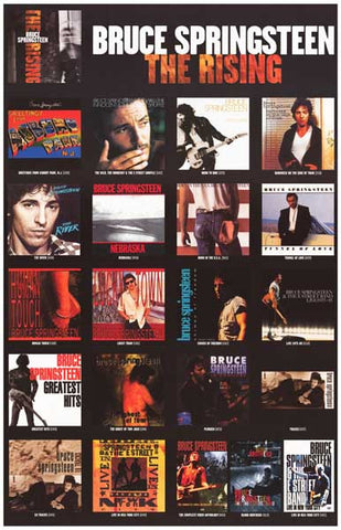 Bruce Springsteen Album Covers Poster