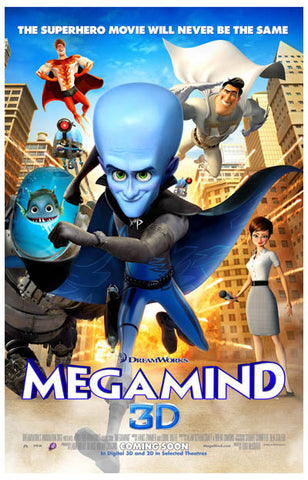 Megamind Never Be the Same Will Ferrell 11x17 Poster