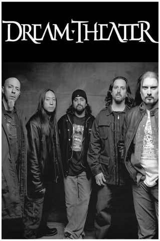 Dream Theater Group Portrait b/w 12x18 Poster