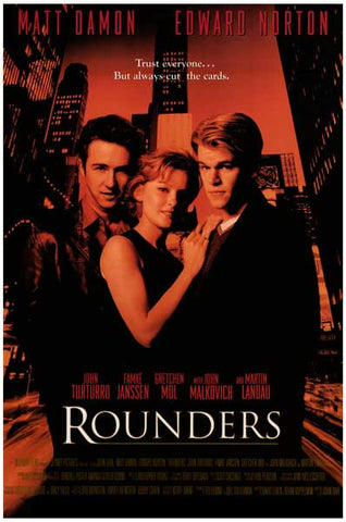 Rounders Matt Damon Edward Norton Poker 12x18 Poster