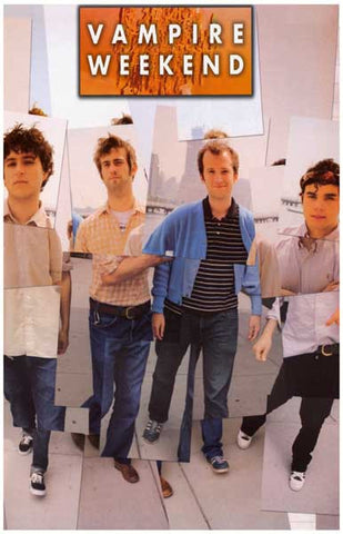 Vampire Weekend Photo Collage Ezra Koenig 11x17 Poster