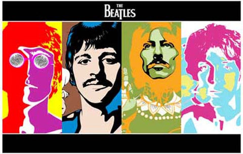 Beatles Psychedelic Pop Art Poster